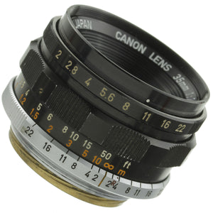 Canon 35mm F2 Rangefinder Lens Leica Screw Mount