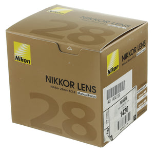Nikon Nikkor 28mm 2.8 Ai-S Lens 2006+ Serial Boxed Mint Condition