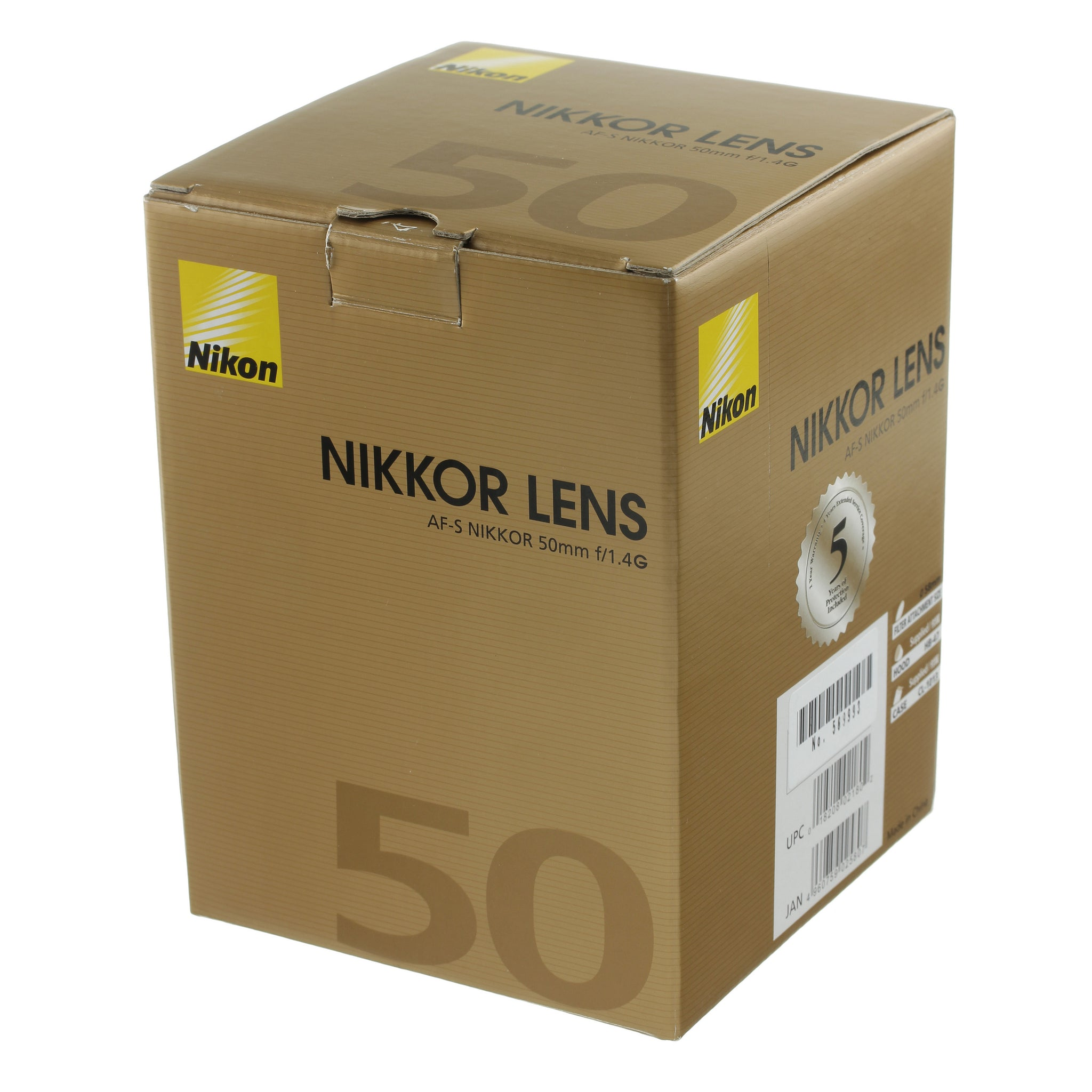 Nikon AF-S Nikkor 50mm 1.4 G Lens US Model Boxed Mint Condition