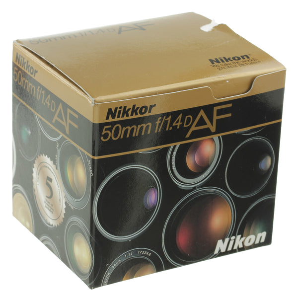 Nikon AF Nikkor 50mm 1.4 D Lens Boxed Beautiful Condition