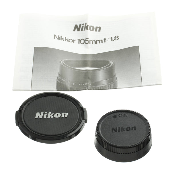 Nikon Nikkor 105mm 1.8 Ai-S Lens Late Serial Boxed Mint Condtion