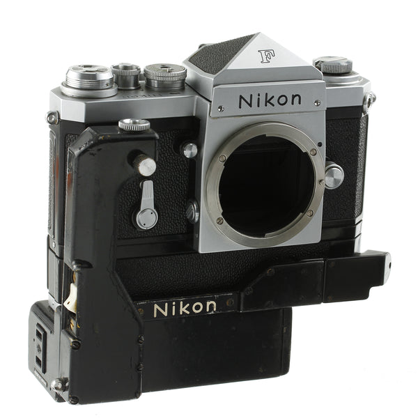 Nikon F Film Camera Body with Standard Prism and Motor Drive