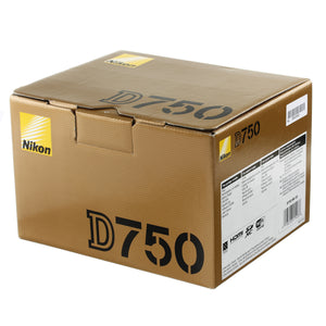 Nikon D750 Digital Camera Body Boxed US Model Near Mint Condition