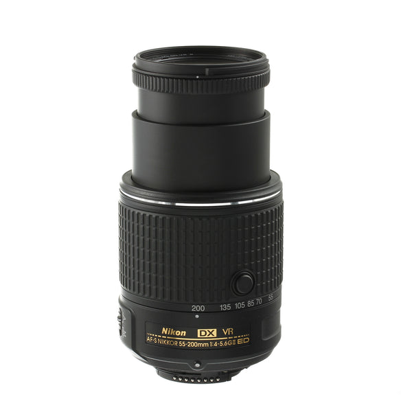 Nikon AF-S Nikkor 55-200mm 4-5.6 VR II Lens Mint Condition