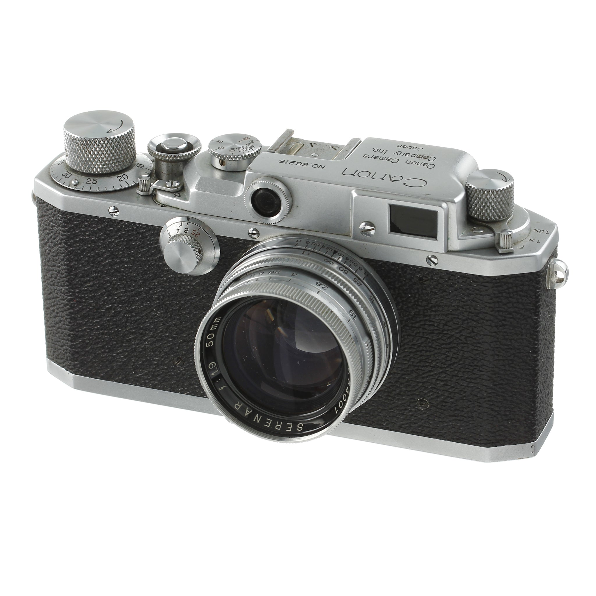 Canon III Rangefinder Camera with Matching Serenar 50mm 1.9 Lens
