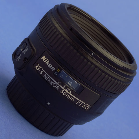 Nikon AF-S Nikkor 50mm 1.4 G Lens US Model Mint Condition