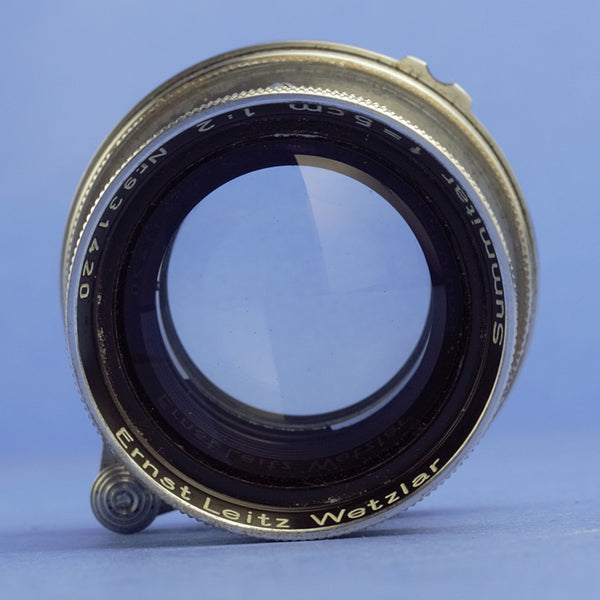 Leica Summitar 5cm F2 Coated Lens Screw Mount Late Serial
