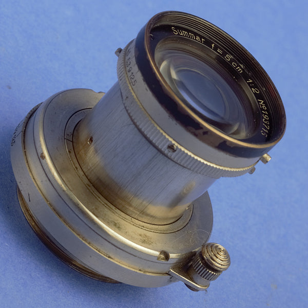 1933 Black Nickel Leica III with Summar 5cm Black Rim Lens