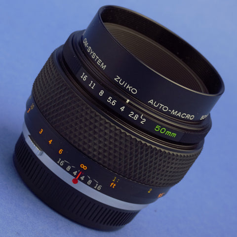 Olympus OM 50mm F2 Auto-Macro Lens Mint Condition