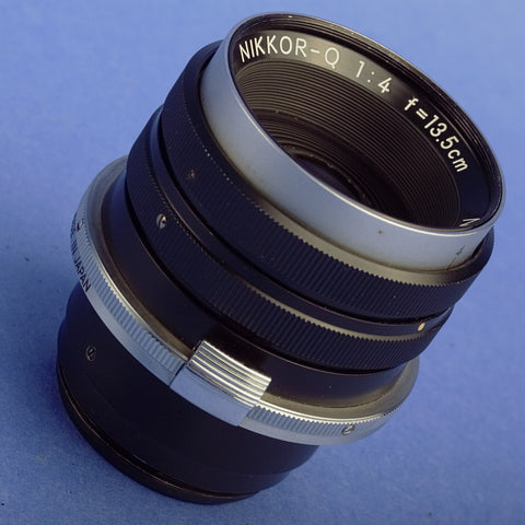 Nikon Nikkor-Q 13.5cm F4 Bellows Lens and Macro Adapter Ring BR1