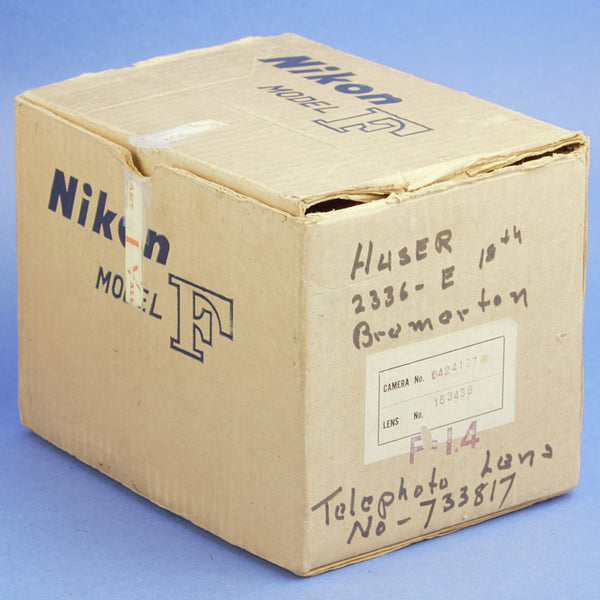 Nikon F Early Film Camera with 5.8cm Lens 03/2020 CLA