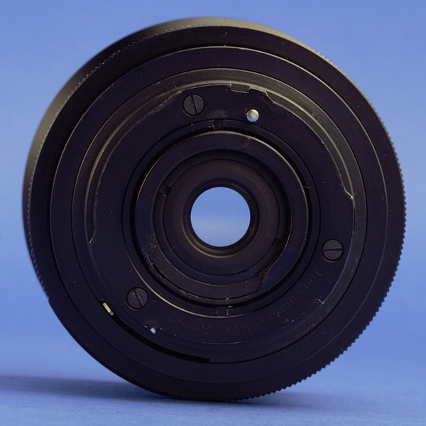 Rollei 18mm F4 HFT 2-Pin Lens QBM Mount 07/2017 CLA