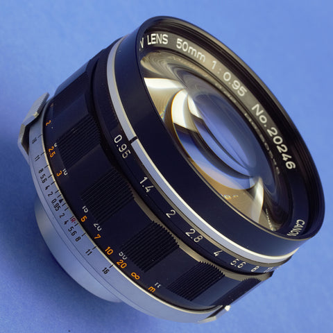 Canon 50mm 0.95 Rangefinder Lens C-Mount Near Mint Condition