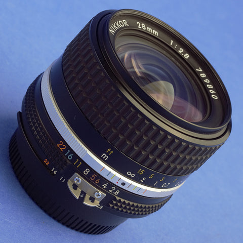 Nikon Nikkor 28mm 2.8 Ai-S Lens Near Mint Condition