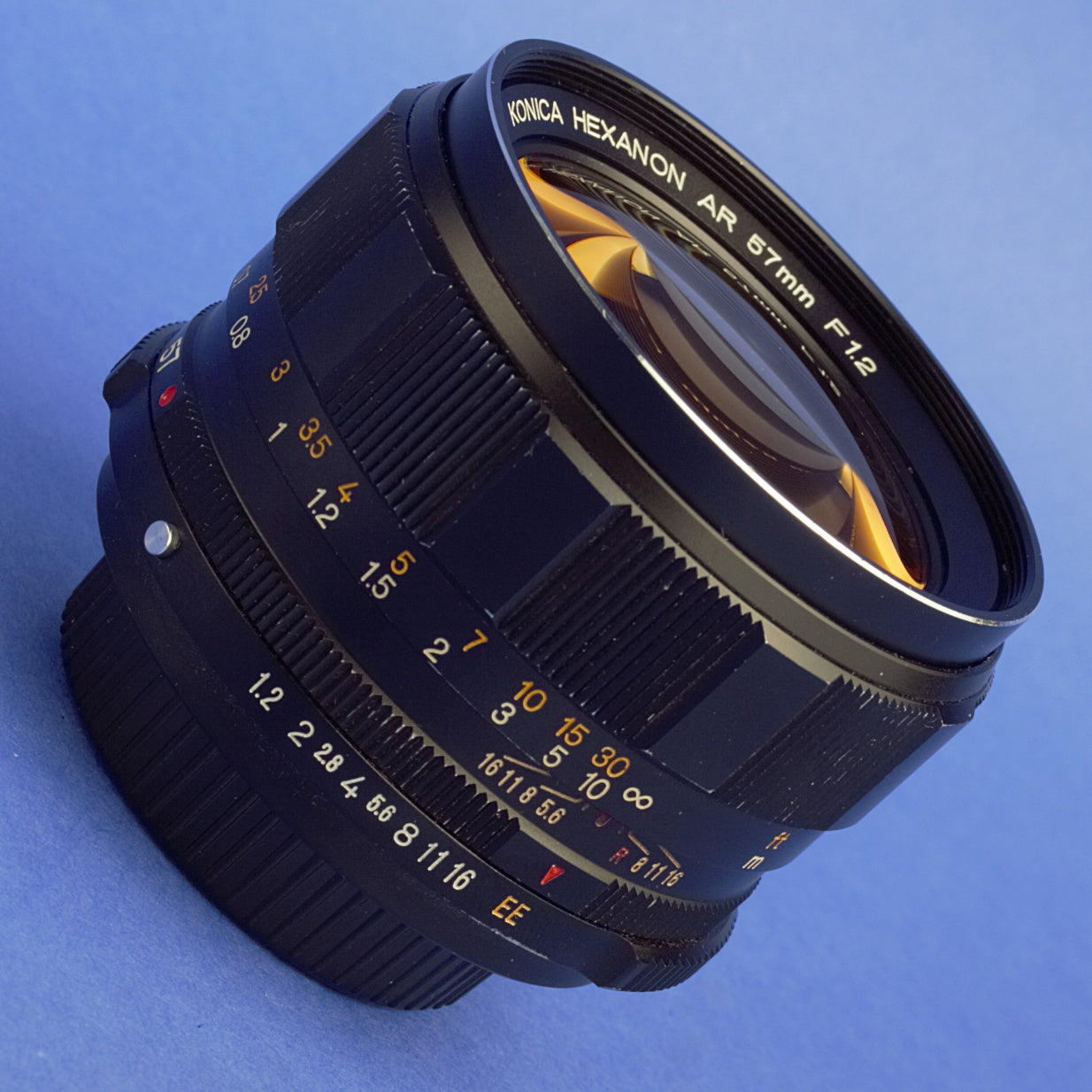 Konica Hexanon 57mm 1.2 EE Thoriated Lens