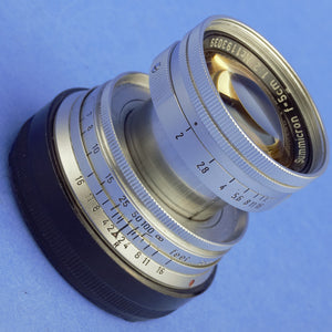 Leica Summicron 50mm F2 Collapsible Lens M Mount