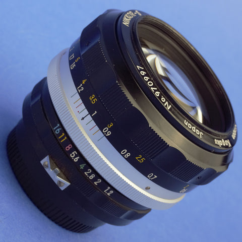 Nikon Nikkor-S 55mm 1.2 Non-Ai Lens Early Version