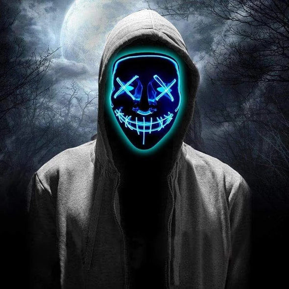 HALLOWEEN GLOWING LED GHOST MASK