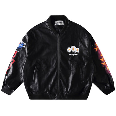 LEATHER LETTERMAN JACKET
