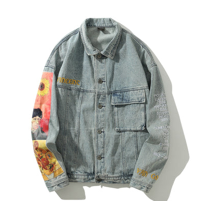 Sunflowers & Self-portrait Denim Jacket