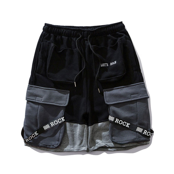 RANDOMCLUB ROCK SHORTS-FY01-BLACK-FRONT
