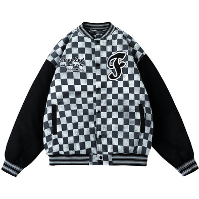 A/W Checkerboard Letterman Jacket