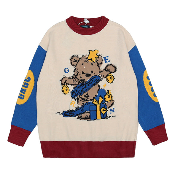 Retro Bear Doll Sweater