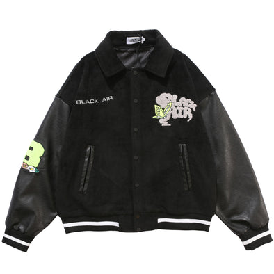 Collar Letterman Jacket