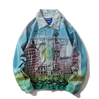 URBAN-Ⅱ GRAFFITI DENIM JACKET