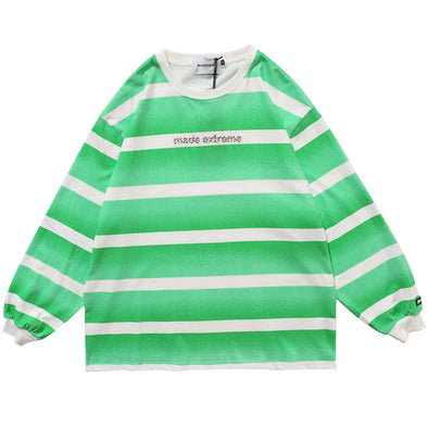 Gradient Stripes Long Sleeve Tee