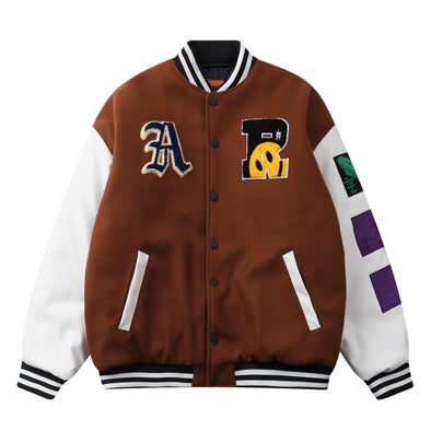 Smiley Face Letterman Jacket