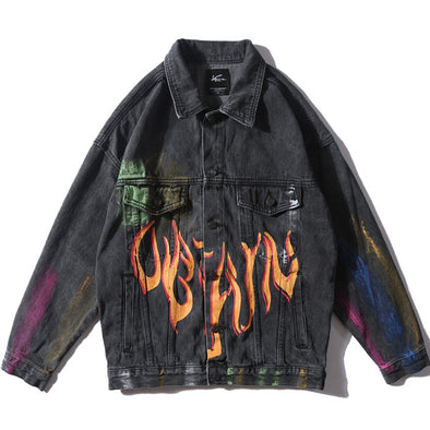 FLAME DENIM JACKET