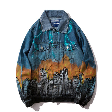 URBAN GRAFFITI DENIM JACKET