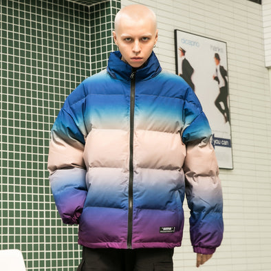 TRI-COLOR GRADIENT PARKA