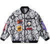 FULL PRINT LETTERMAN JACKET
