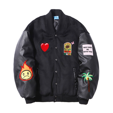 Embroidered Letterman Jacket