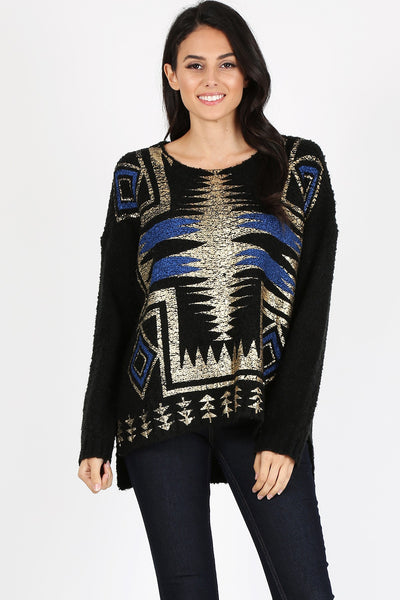 Tribal Print Knitt Sweater