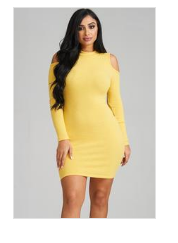 Soraya Long Sleeve Rib Knit Dress Curvy