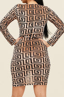 Bye Felicia V-Neck Long Sleeve Dress