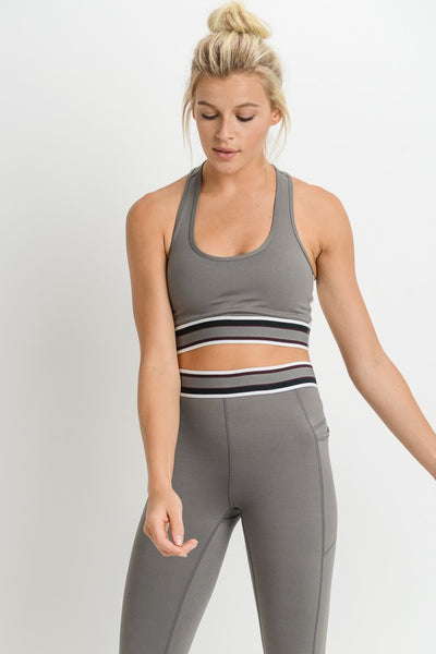 X Racerback Colorblock Sports Bra
