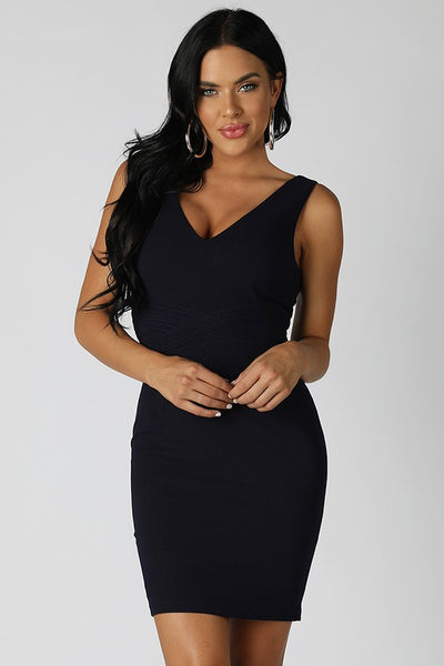 Olga V-neck Sleeveless Dress