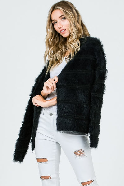 Laney Soft Feather Yarn Cardigan