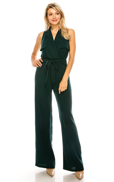 Jessie Hunter Double Breasted Tie Jumpsuit