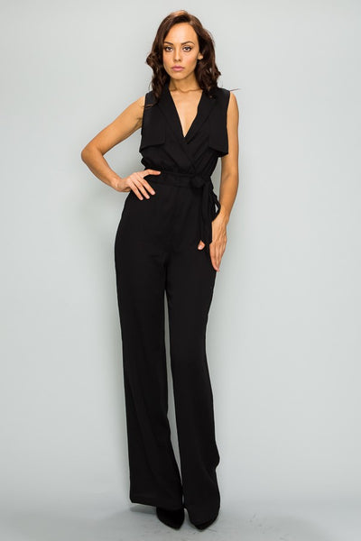 Jessie Double Breasted Tie Jumpsuit