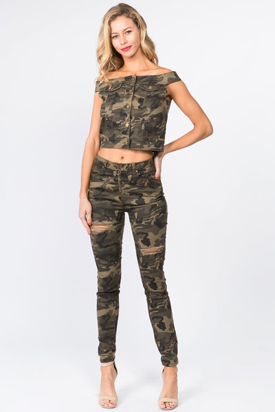 HIGH RISE FRONT ZIP UP SKINNY PANTS CURVY