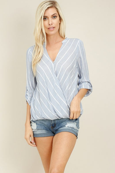 Surplice Top with Button