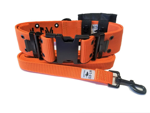 M1-K9 Collar, Gen. 3, Safety Orange, Adjustable 16