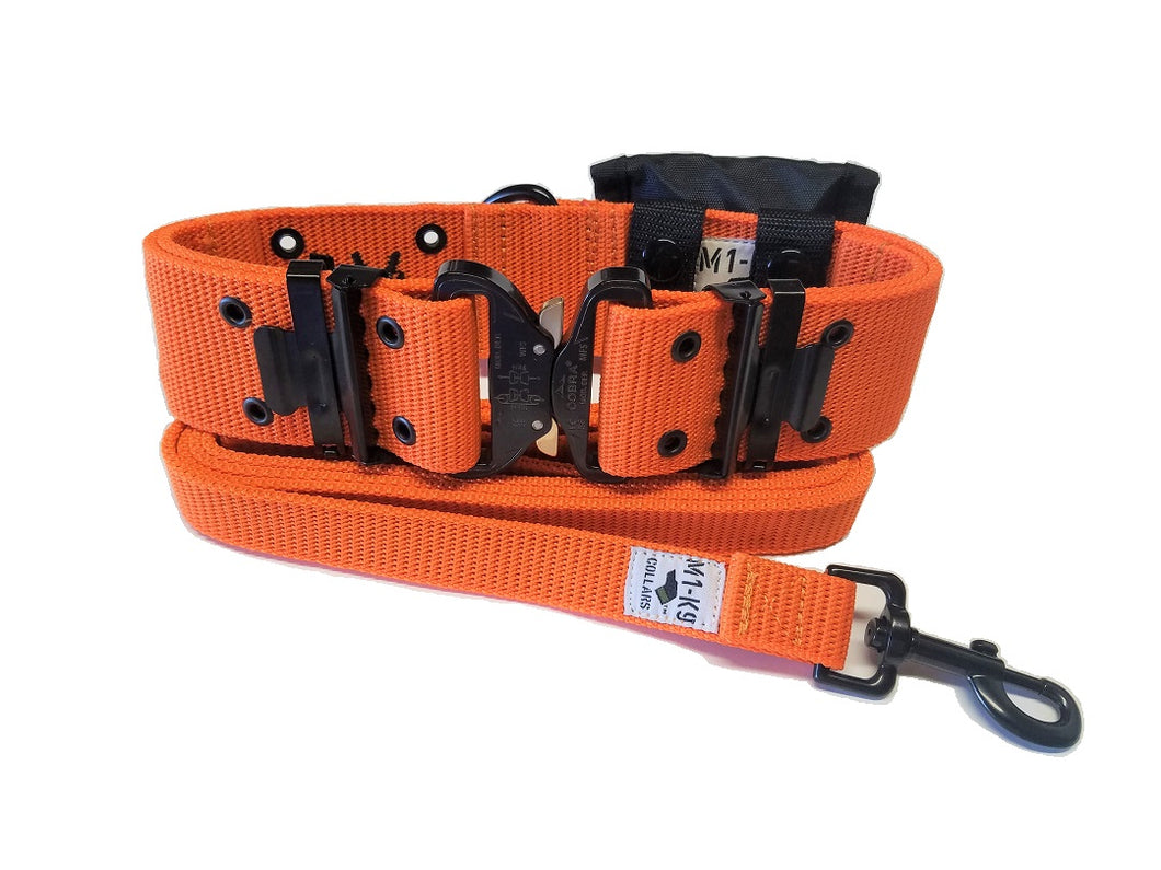 M1-K9 Collar, Gen 3. Pro Series, Safety Orange, Adjustable 16