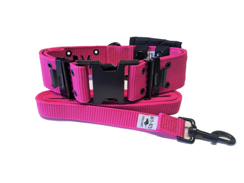 M1-K9 Collar, Gen. 3, Hot Pink, Adjustable 16