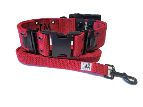 M1-K9 Collar, Gen. 3,  Marine Corps Red, Adjustable 16